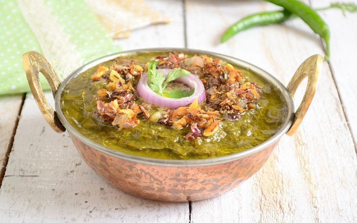 Sarson Ka Saag: Mixed Greens Curry [Vegan]