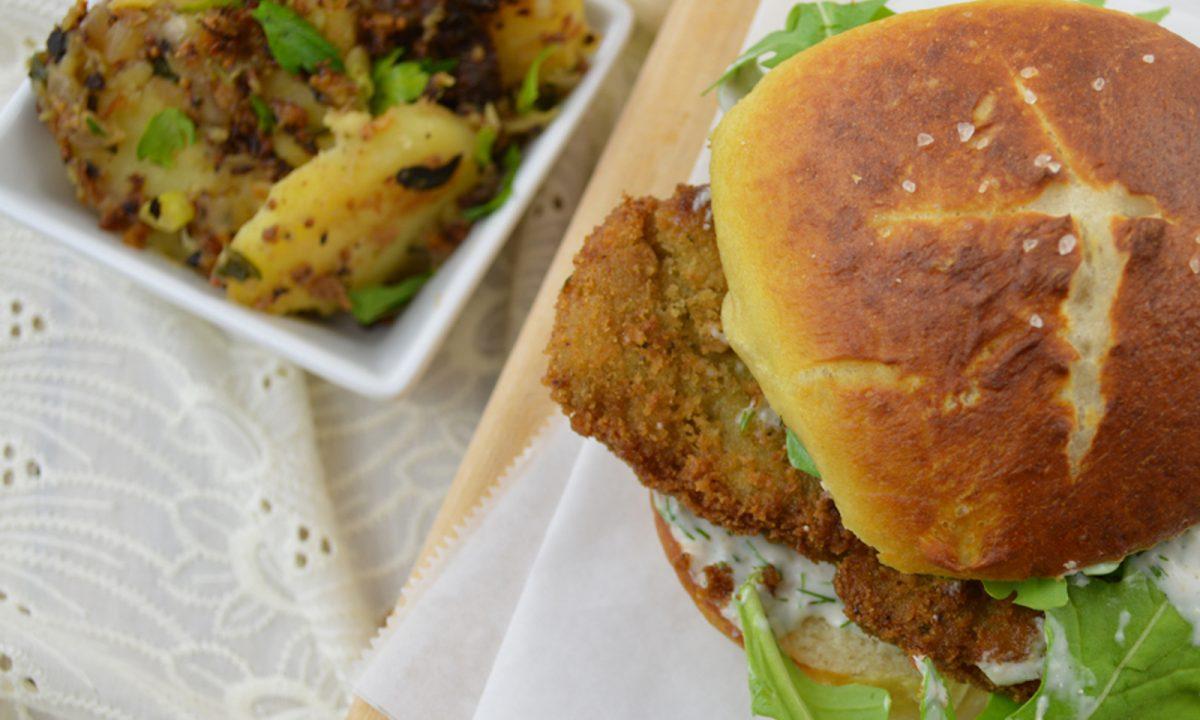 Schnitzel Burger Vegan One Green Planet