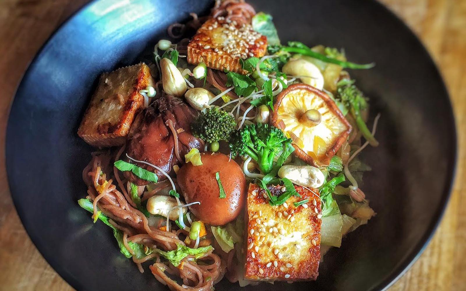Savory Shiitake, Tofu, and Cabbage Stir-Fry