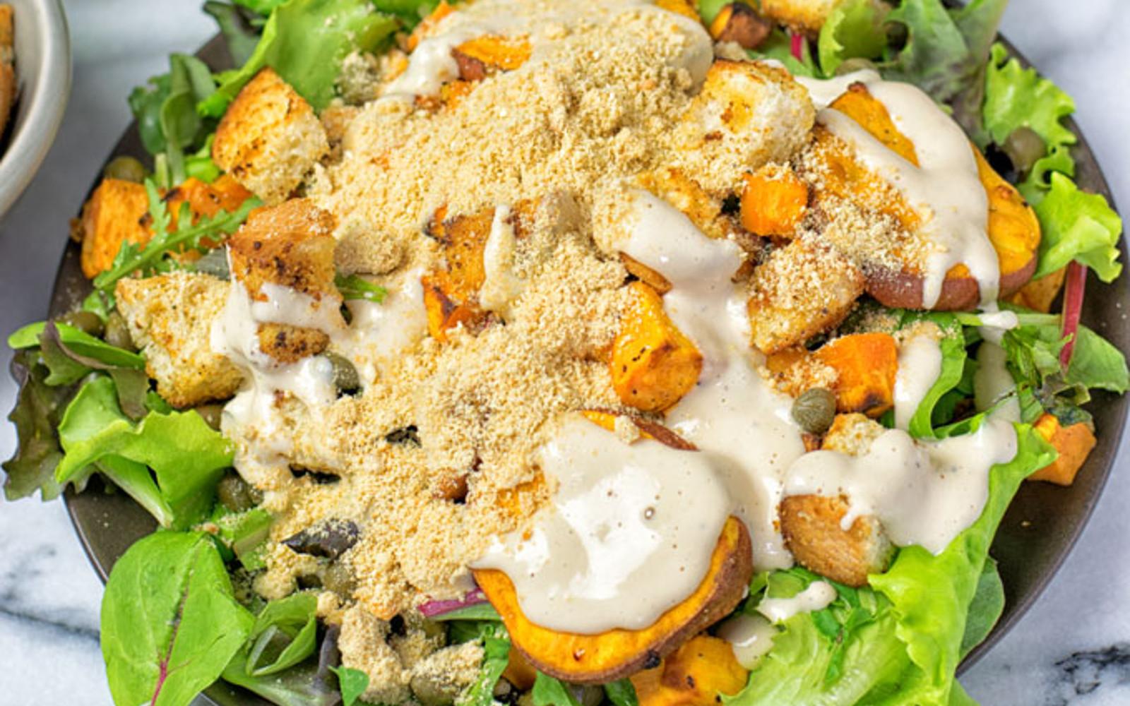 Sweet Potato Caesar Salad