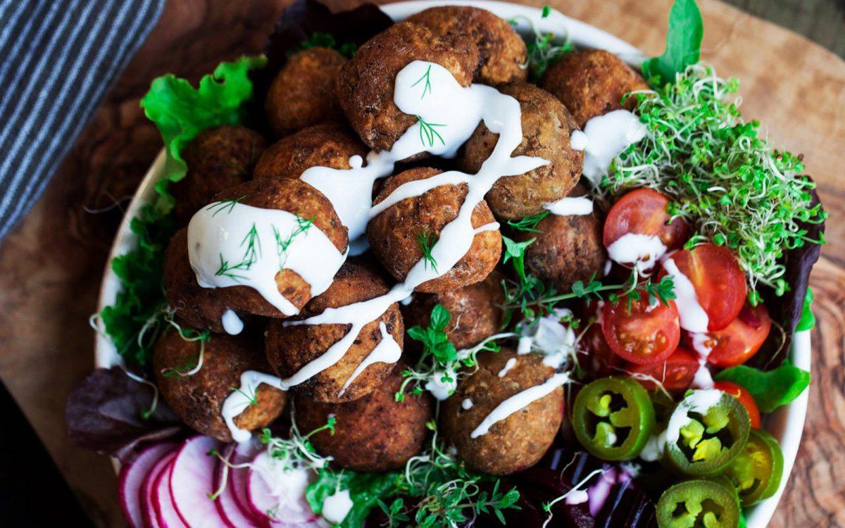 Vegan Sweet Potato and Red Onion Falafel