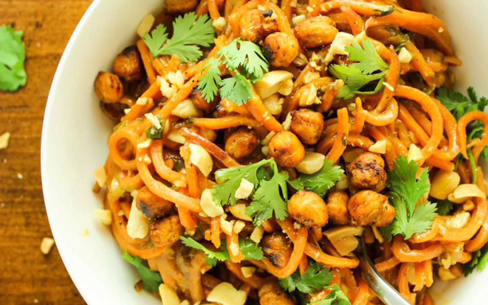Thai Peanut Sweet Potato Noodles 1