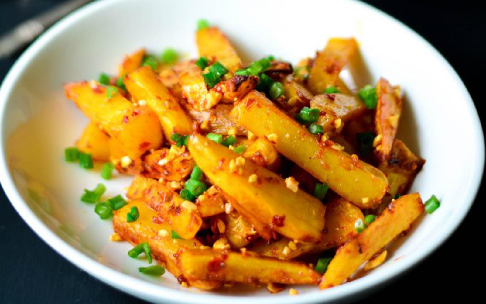 Baked Indonesian Chili Garlic Fries