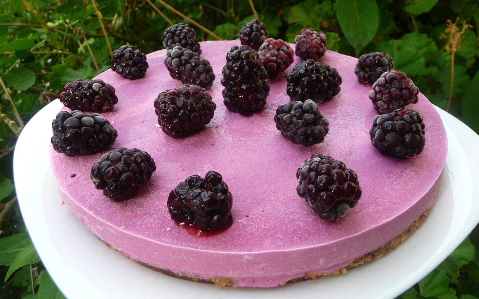 Blackberry Lime Cheesecake 1