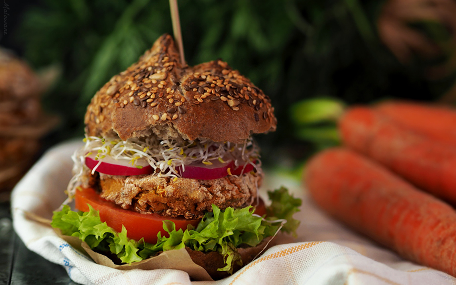 Vegan Carrot Burger
