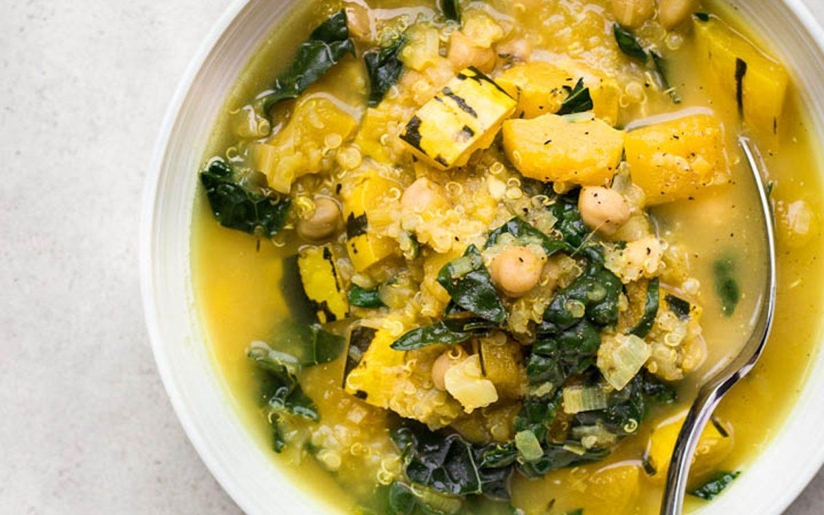 Delicata Squash Stew With Chickpeas and Quinoa 1