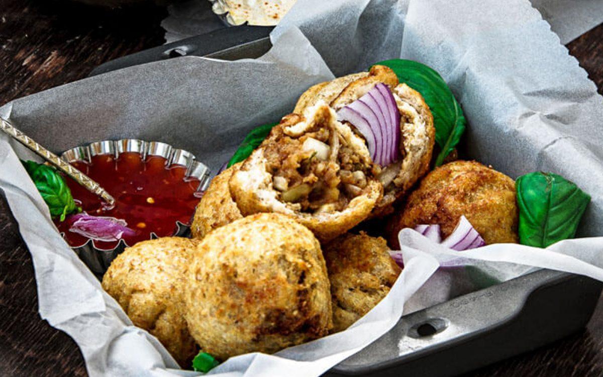 Indian Spiced Potato Stuffed Bread Roll b