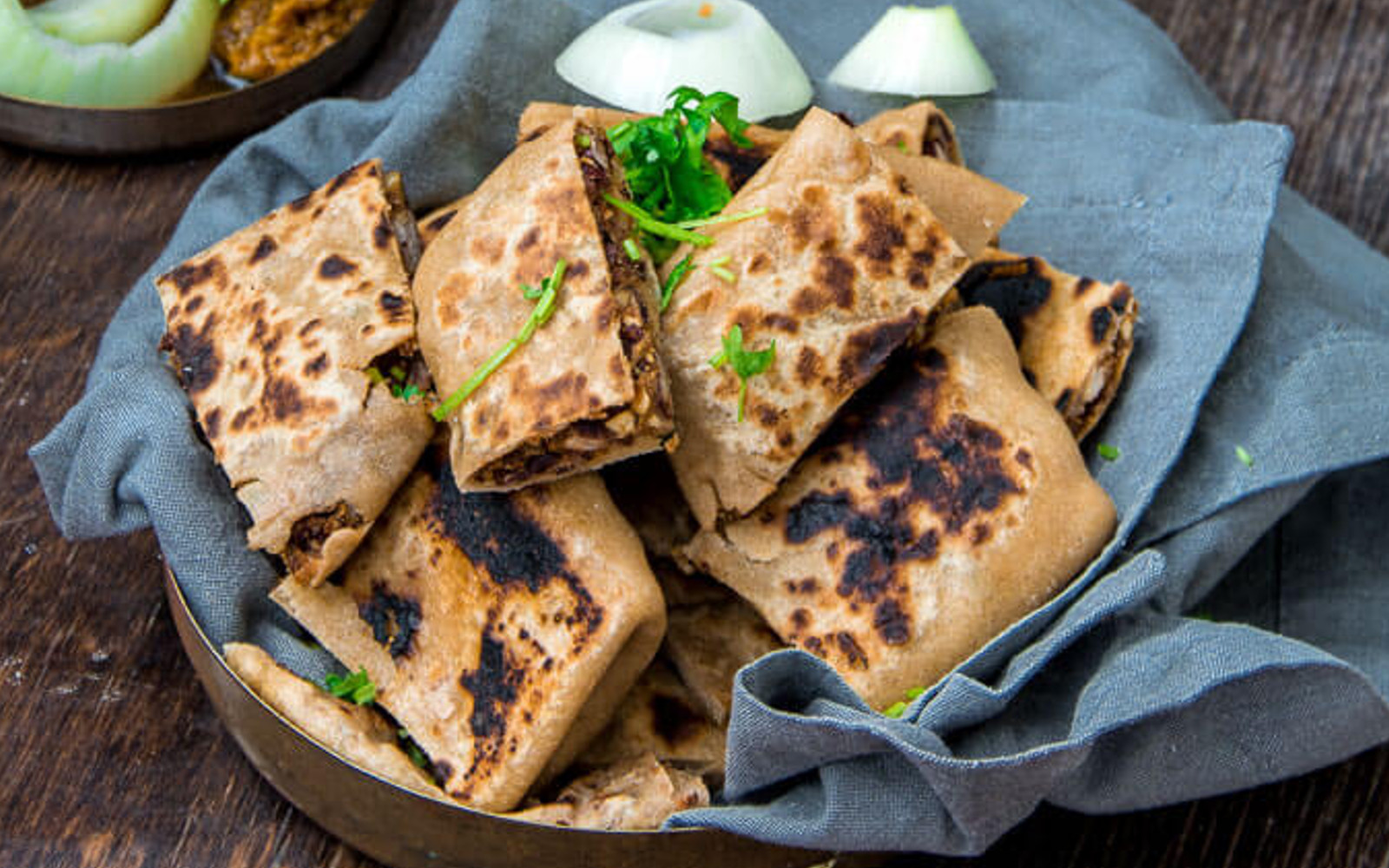 Indian Tofu Paratha Pocket Bites b