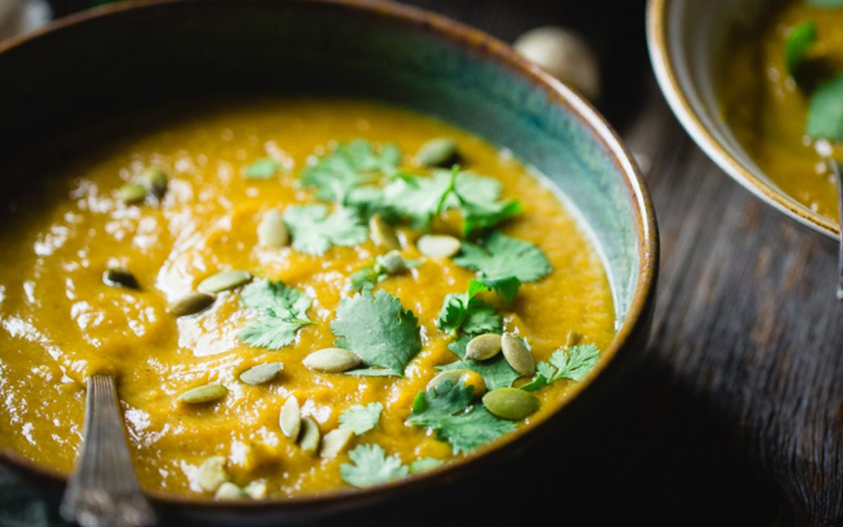 Moroccan Roasted Acorn Squash Soup