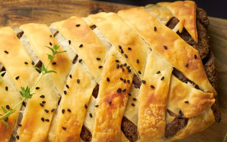 Pecan and Mushroom Wellington