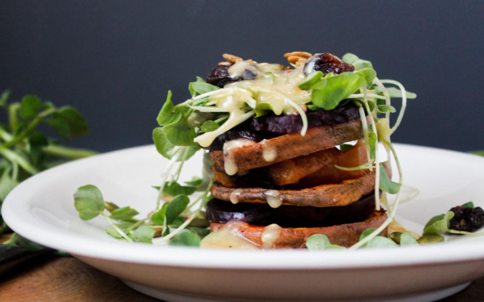 Sweet Potato and Beet Salad [Vegan]