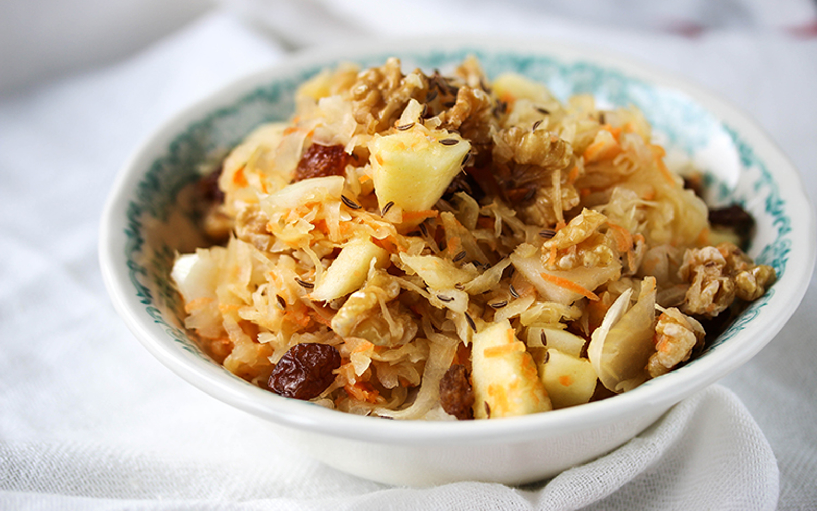 Sauerkraut Salad With Apples and Walnuts