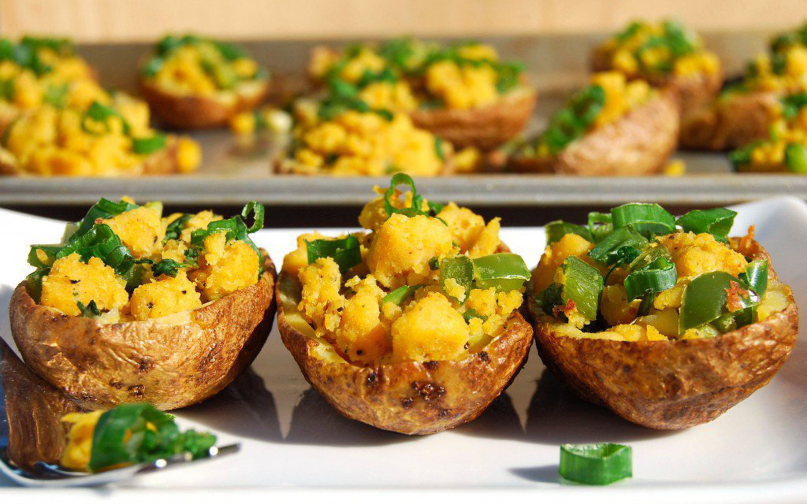healthy stuffed potato skins