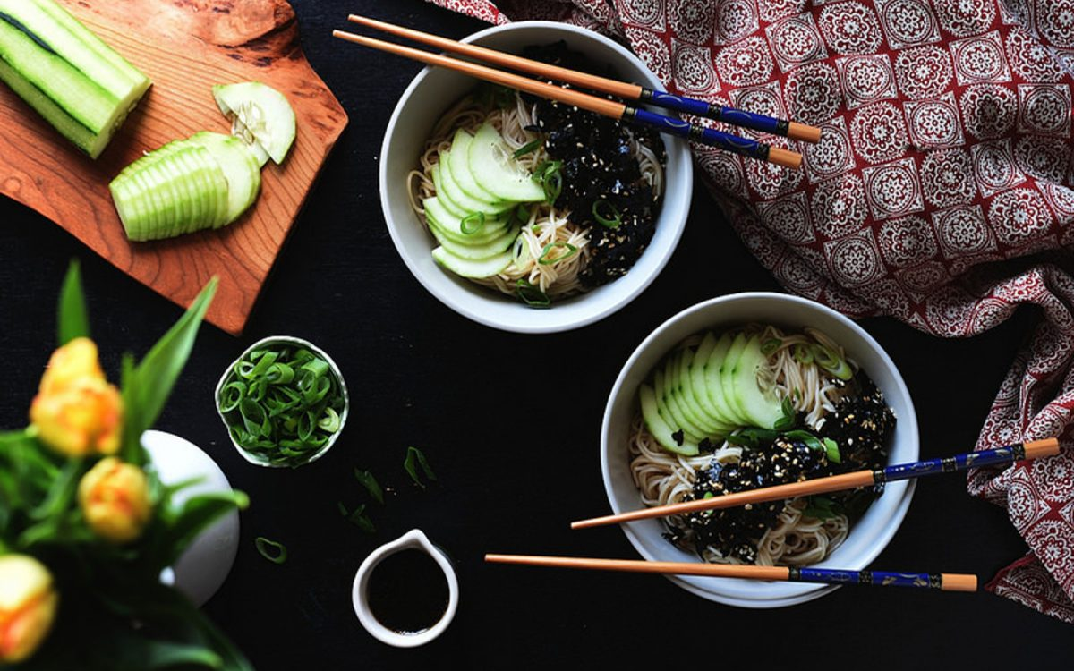 Somen Noodles With Nori Dressing