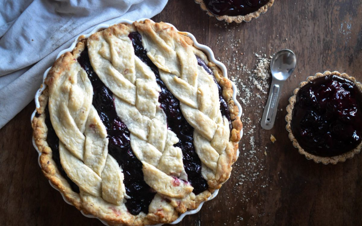 Vegan Black Bottom Cherry Pie