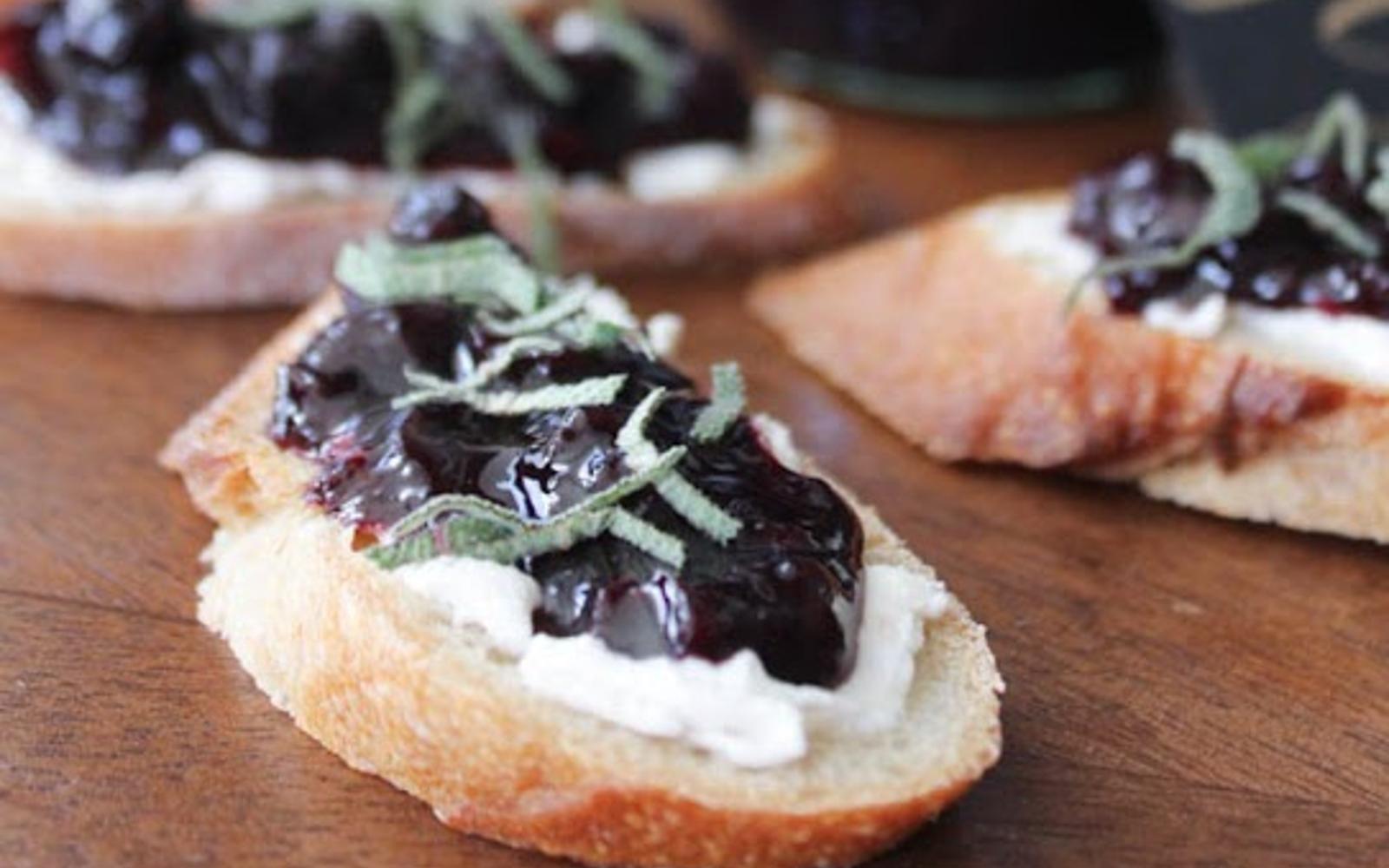 Blueberry Sage Chutney [Vegan, Gluten-Free]