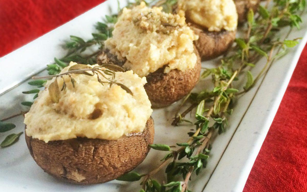 Cashew Cheese Stuffed Mushrooms 2