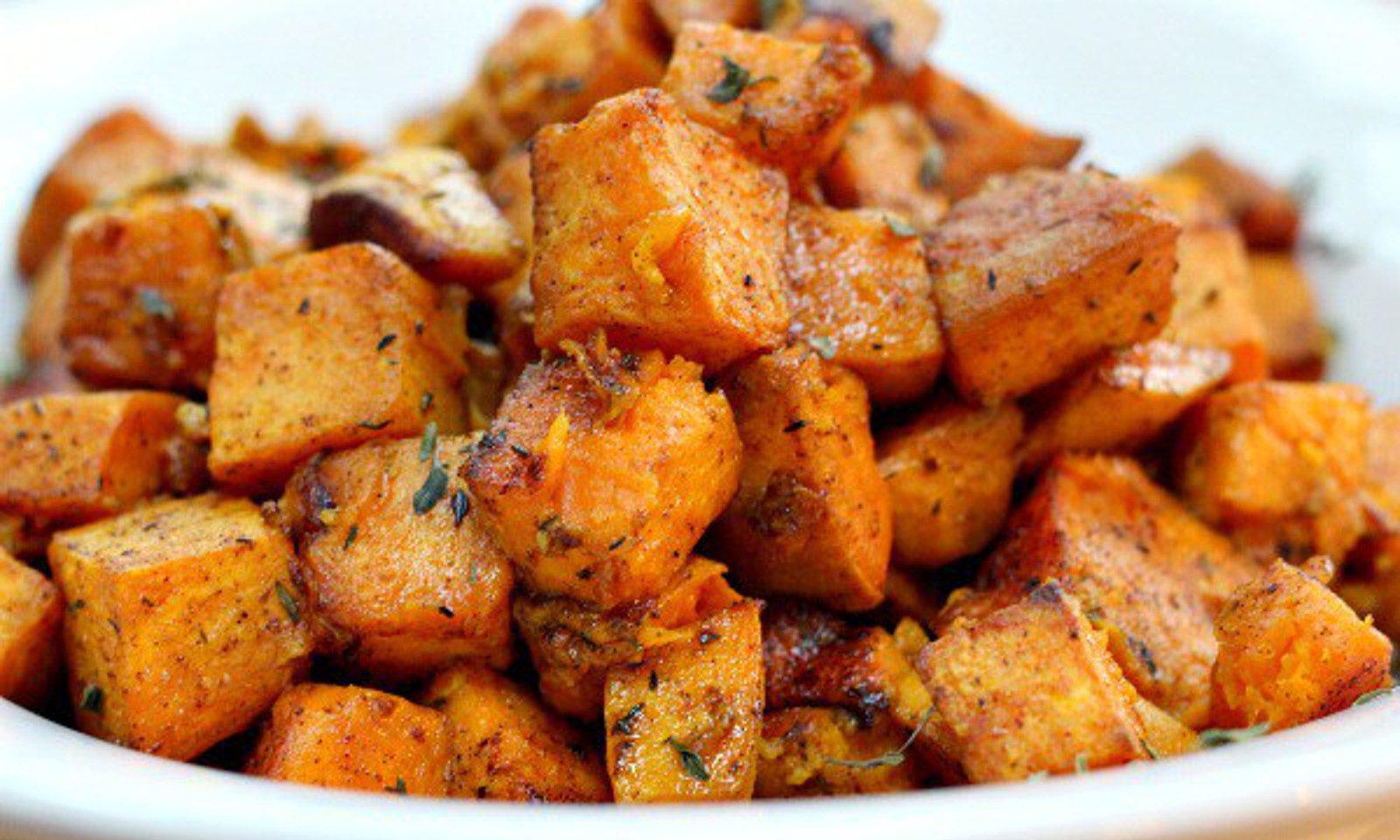 Cinnamon Turmeric Sweet Potatoes 1