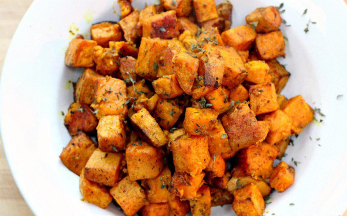 Cinnamon Turmeric Sweet Potatoes