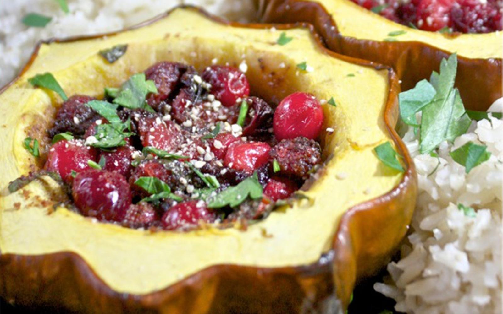 Cranberry Stuffed Squash 1