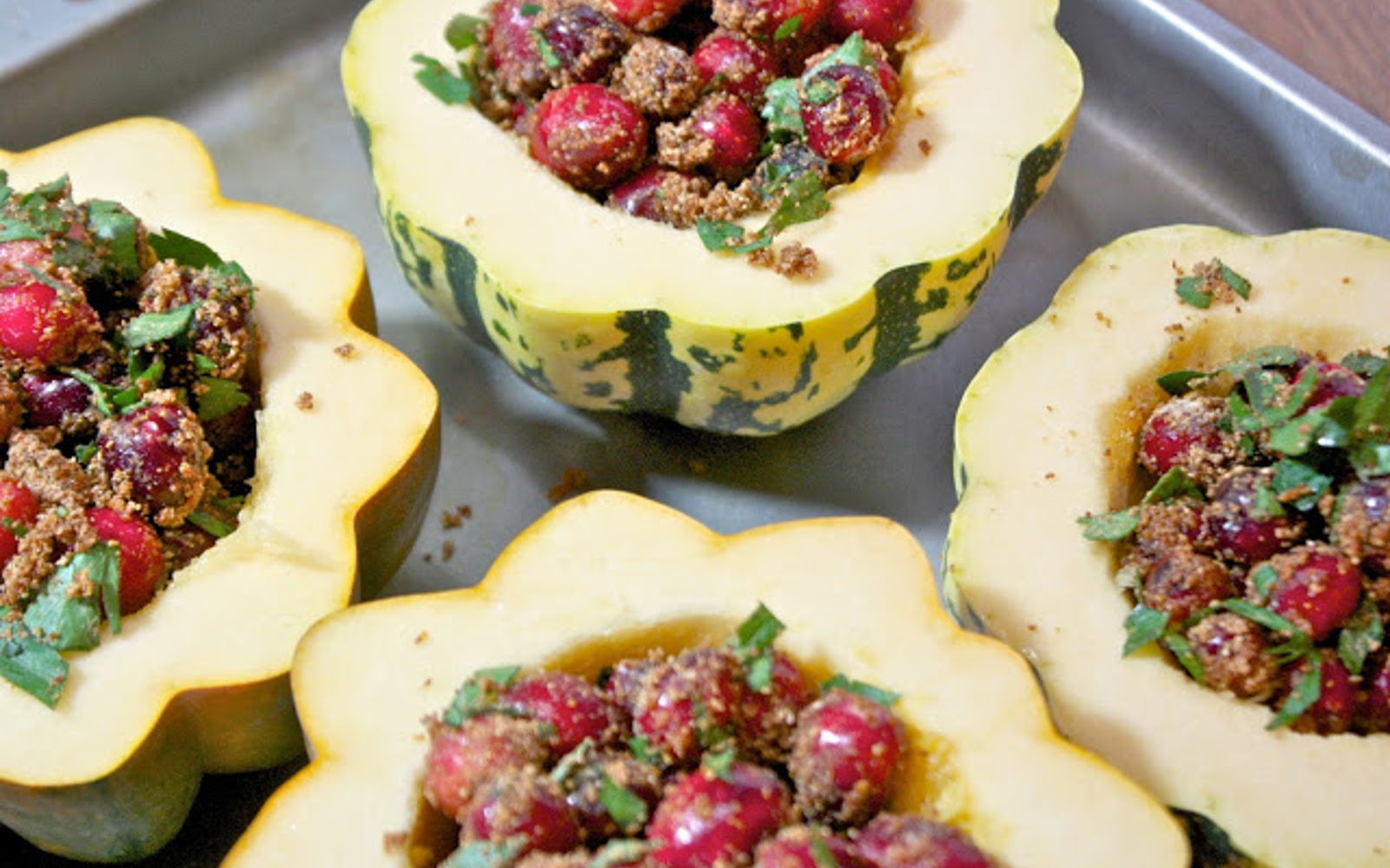 Cranberry Stuffed Squash 2
