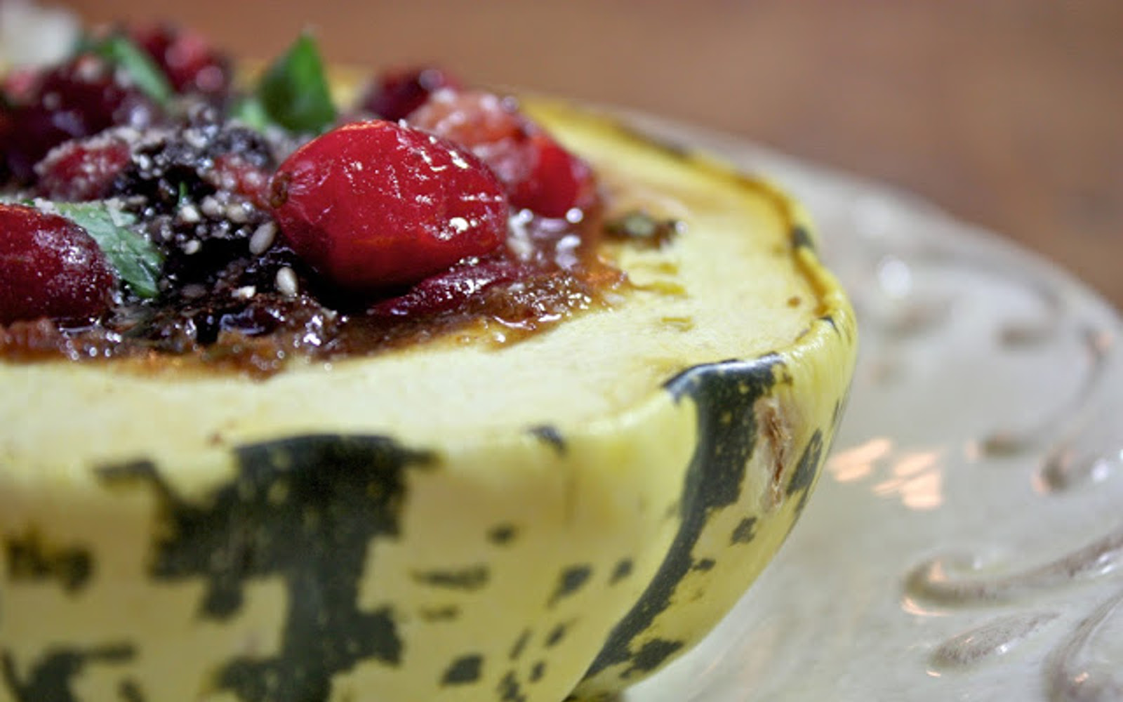 Cranberry Stuffed Squash 3