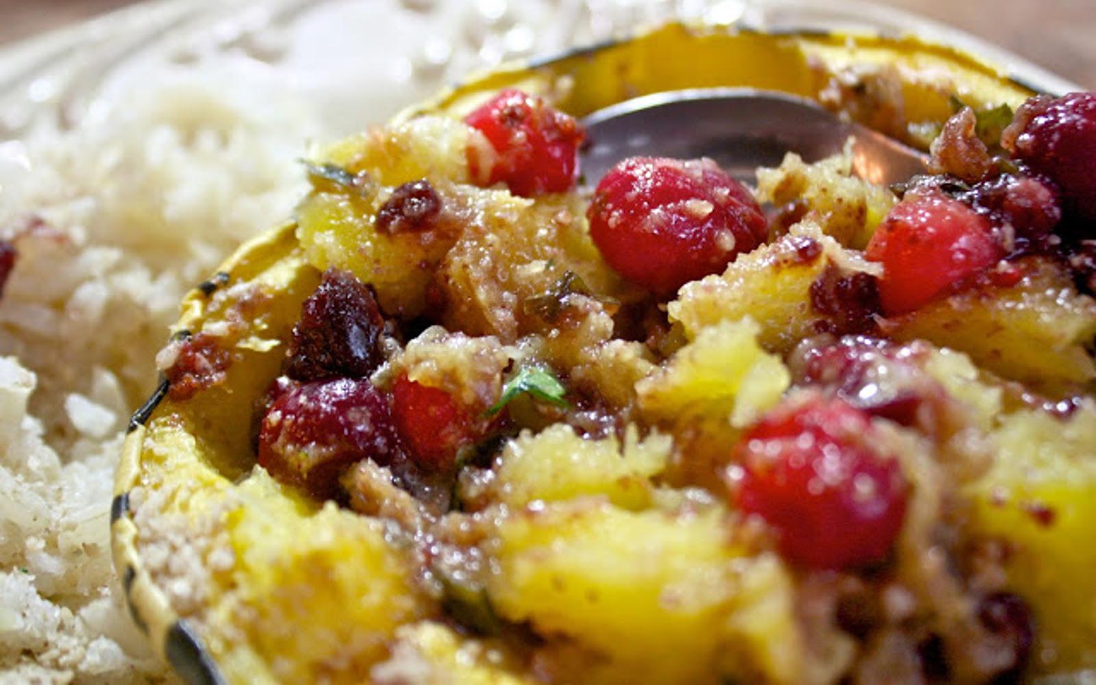 Cranberry Stuffed Squash 4