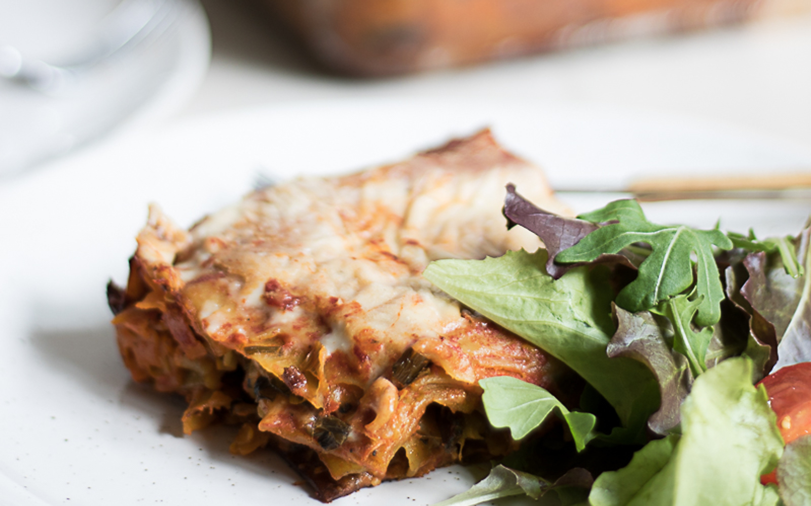 Veggie Lasagna with Eggplant and Cashew Cheese [Vegan]