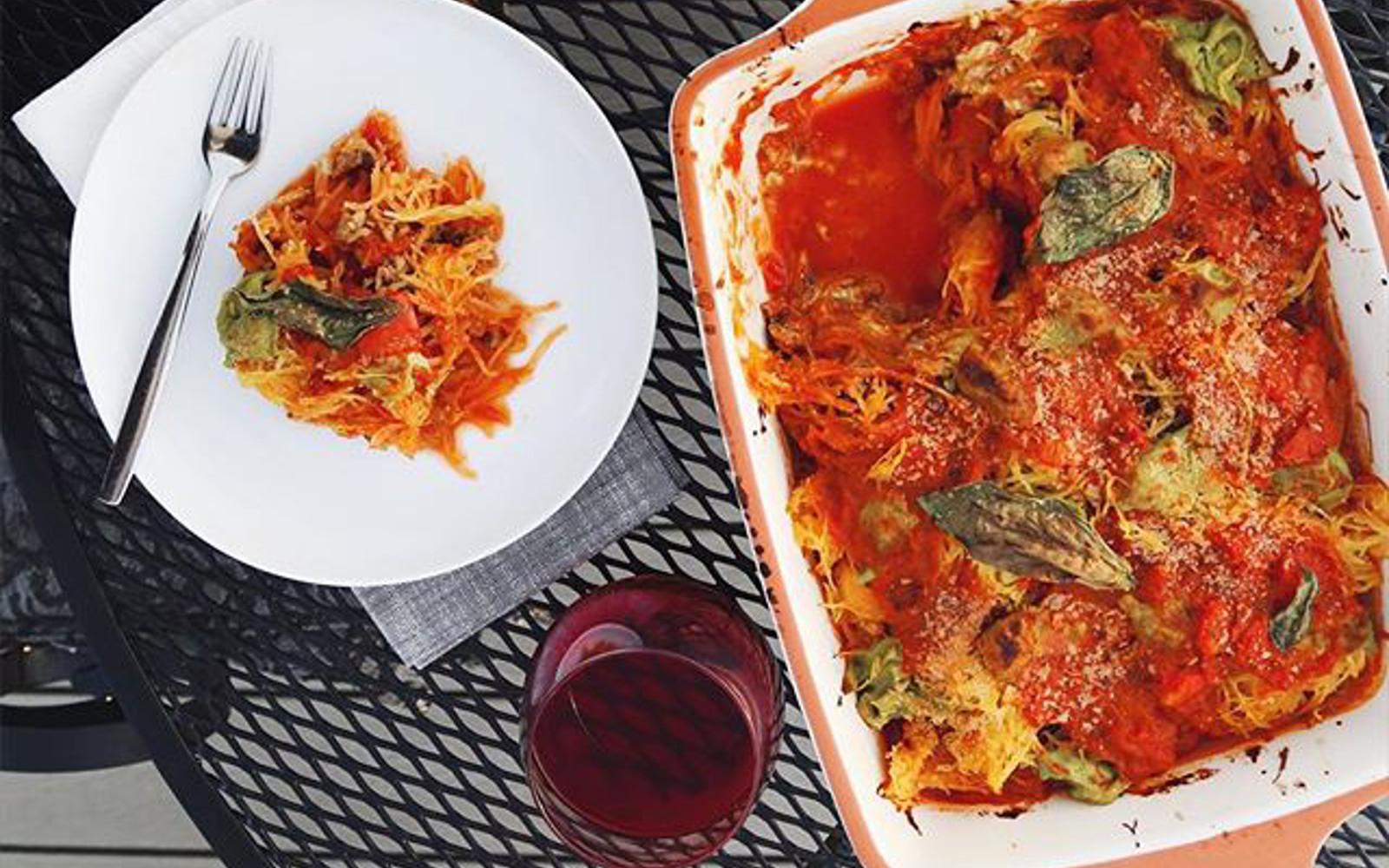 Fire Roasted Tomato Basil Spaghetti Squash Bake b