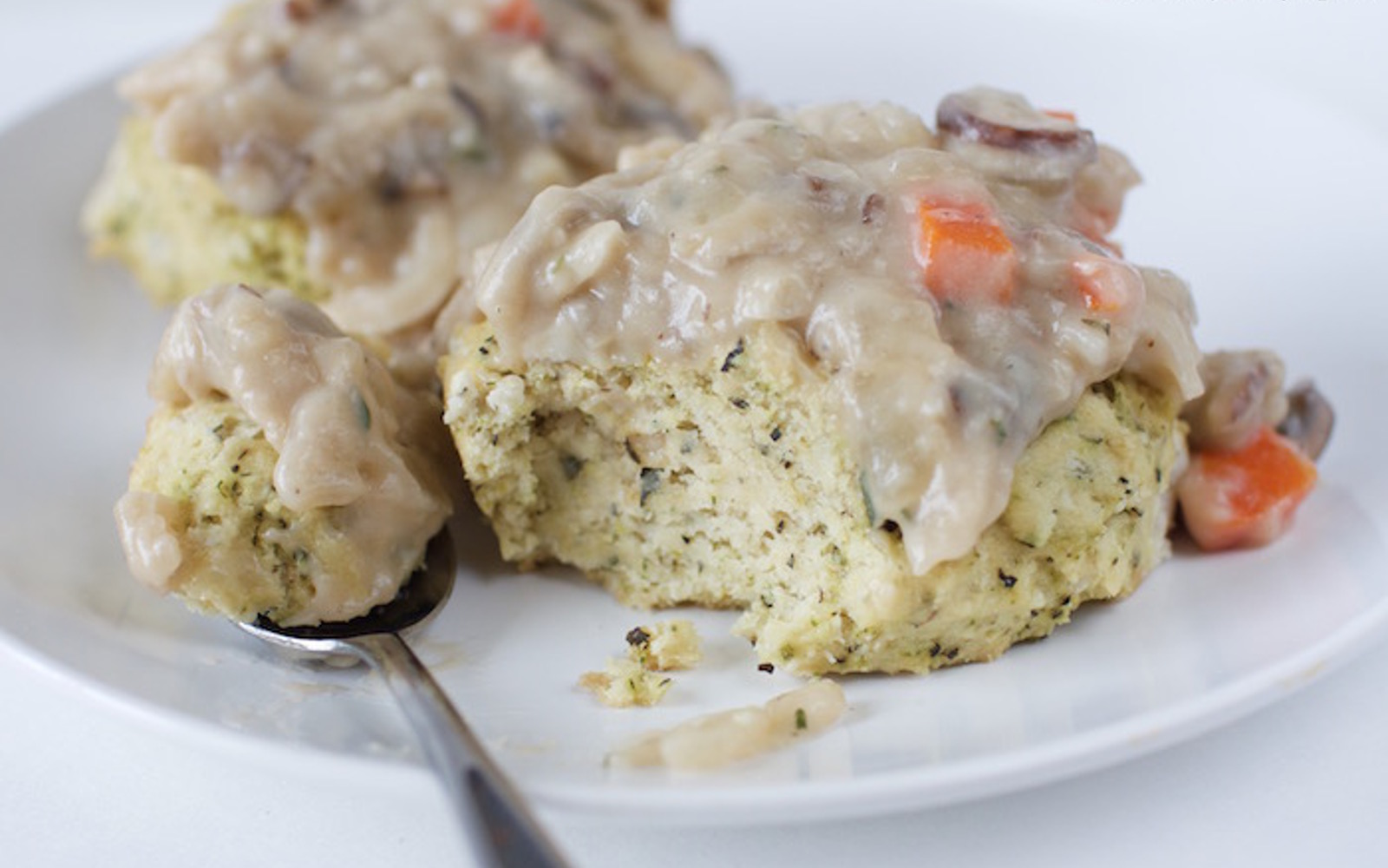 Herbed Biscuits With Mushroom Gravy