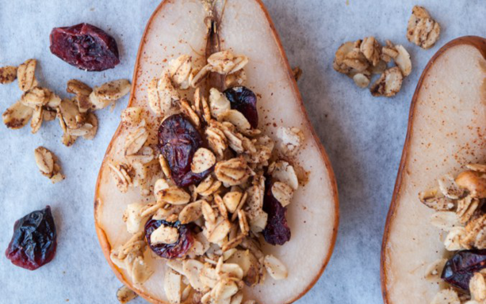 Maple Oat and Nut Baked Pears