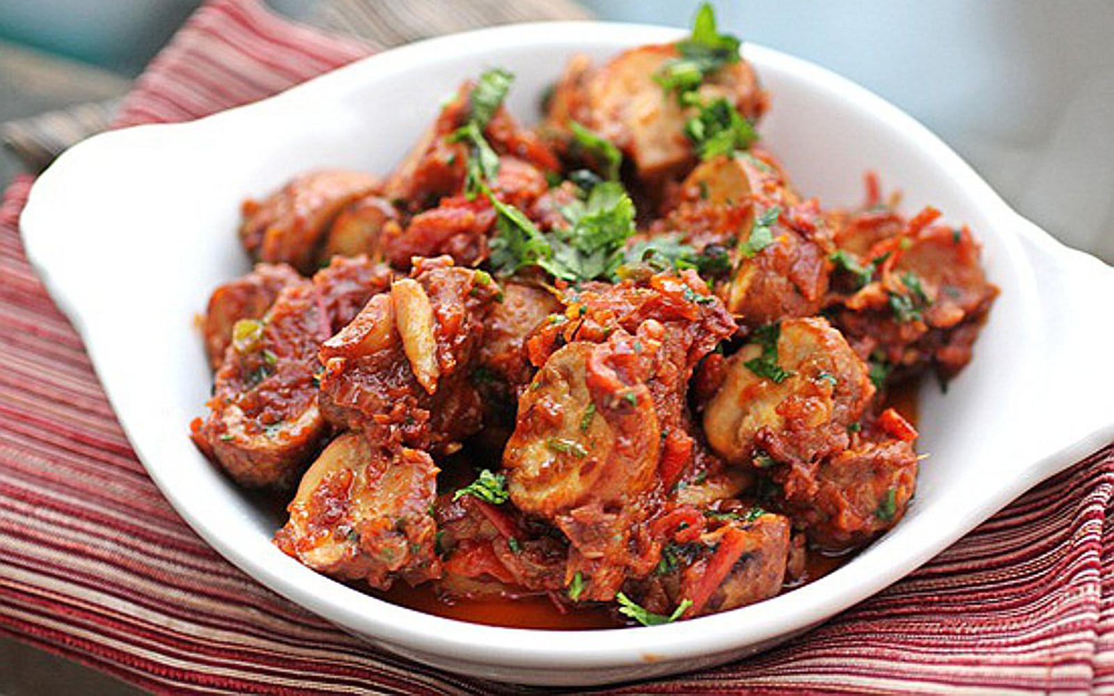 masala mushroom bhuna