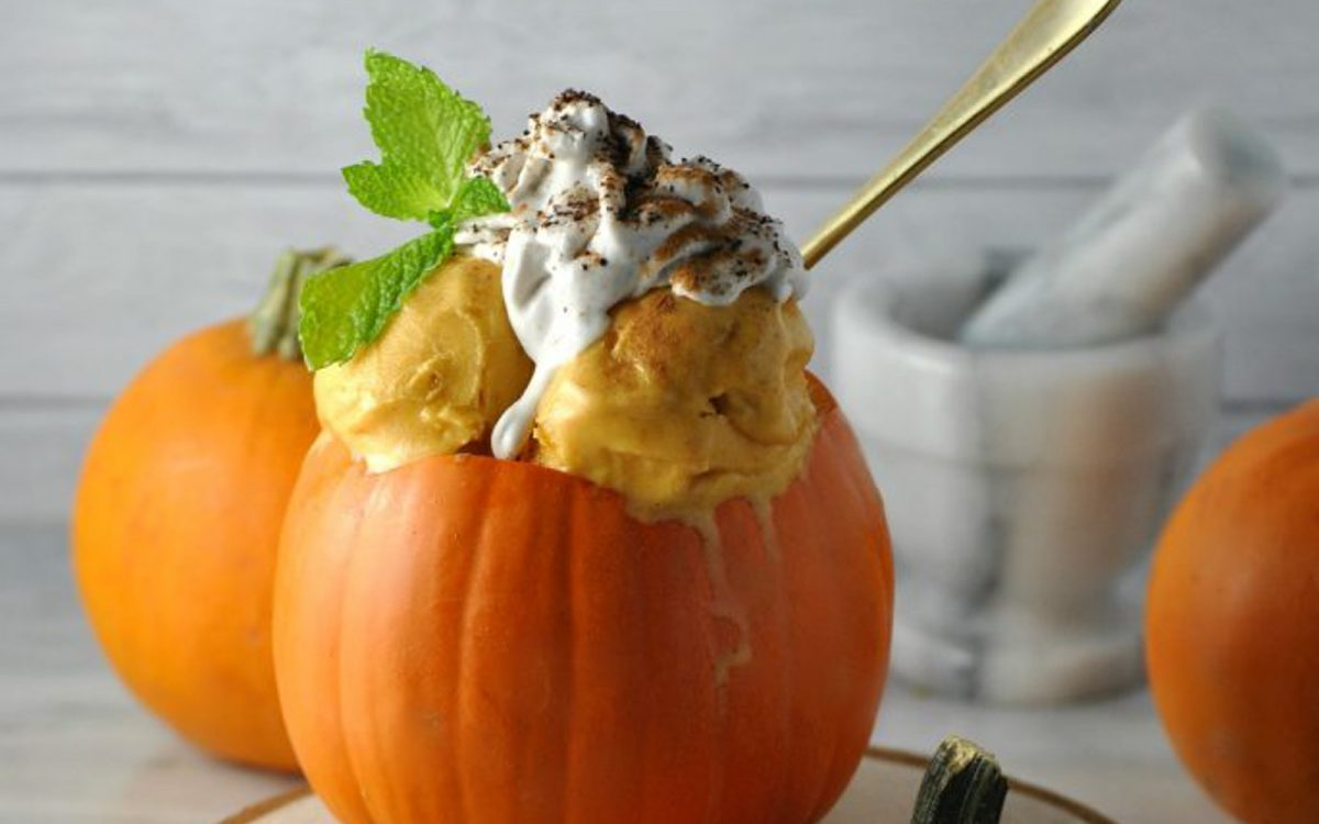 Pumpkin Spice Latte Ice Cream 6