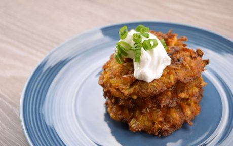 Stack of Vegan Pumpkin Spiced Latkes