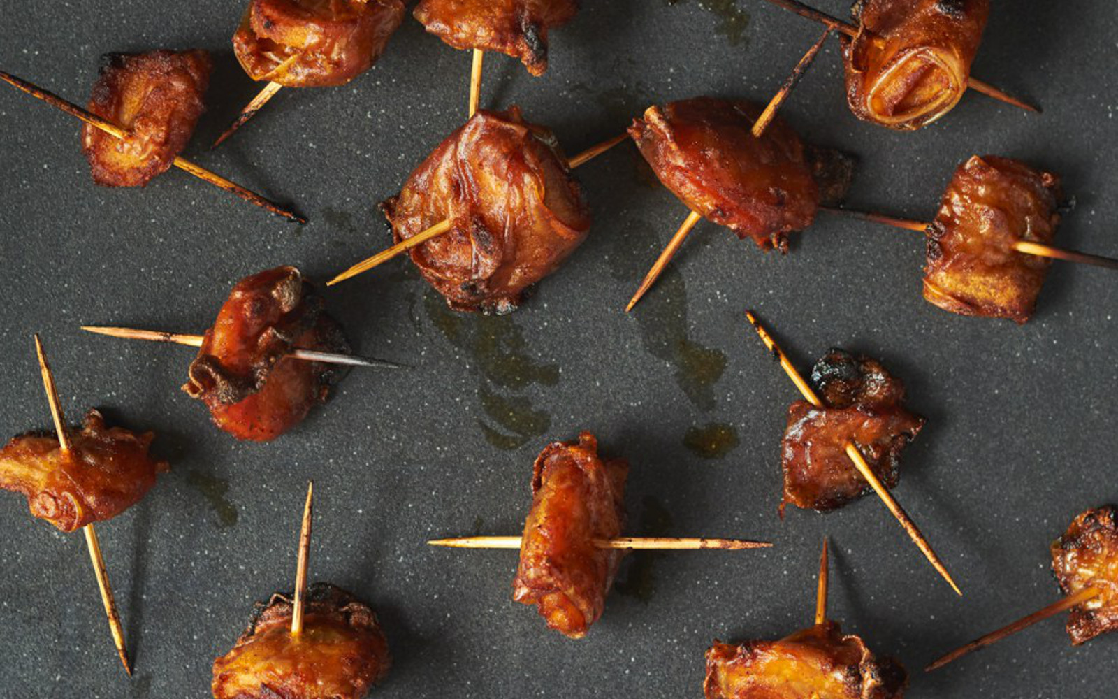 Rice Paper Bacon Wrapped Water Chestnuts