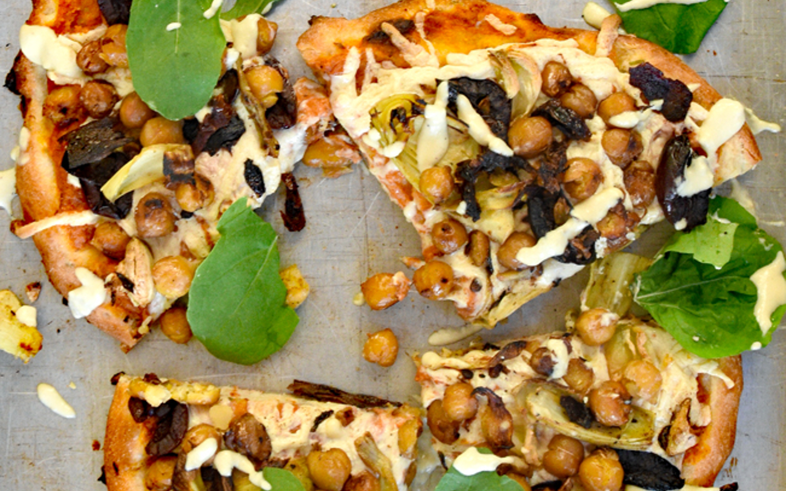 Roasted Garlic and Chickpeas Pizza 2