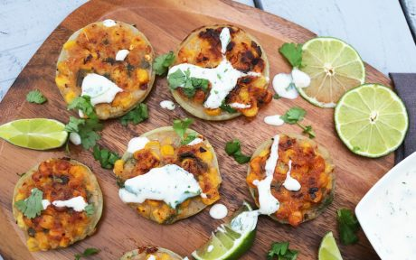 Spicy Onion and corn vegan Fritters