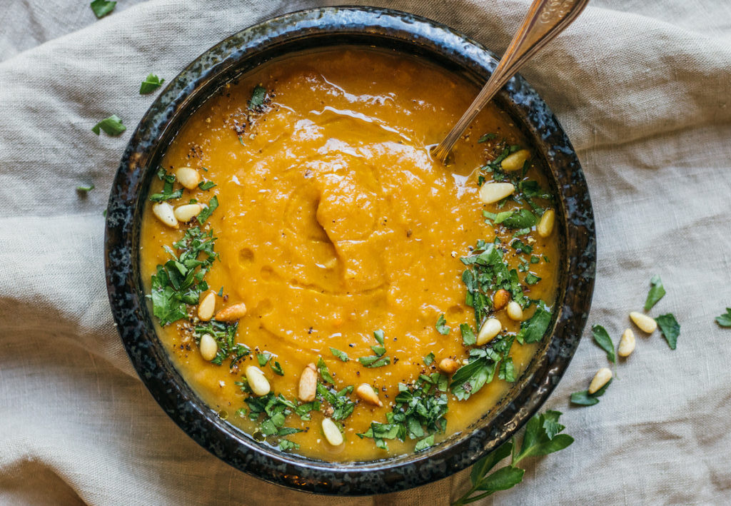 Sweet Potato, Carrot, and Ginger Soup