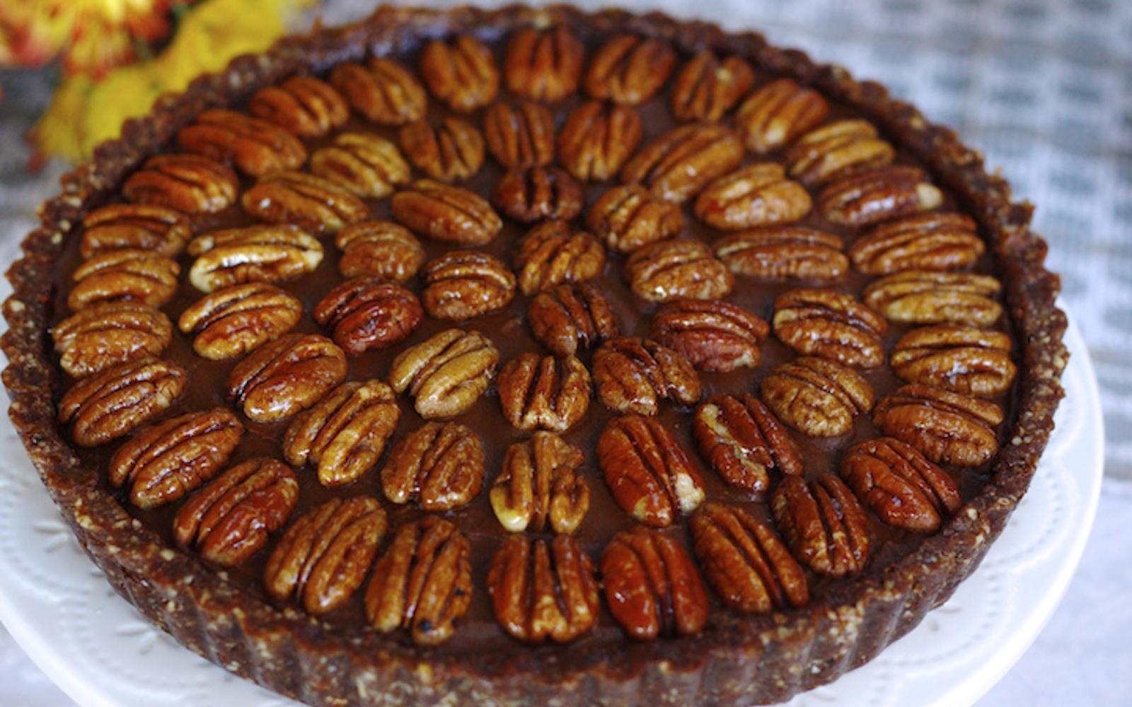 Sweet Potato Chocolate Mousse Pecan Pie