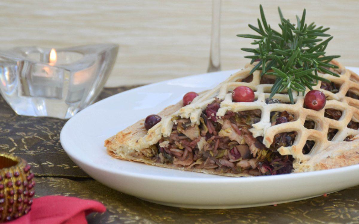Vegetable Coulibiac With Porcini Mushroom Sauce
