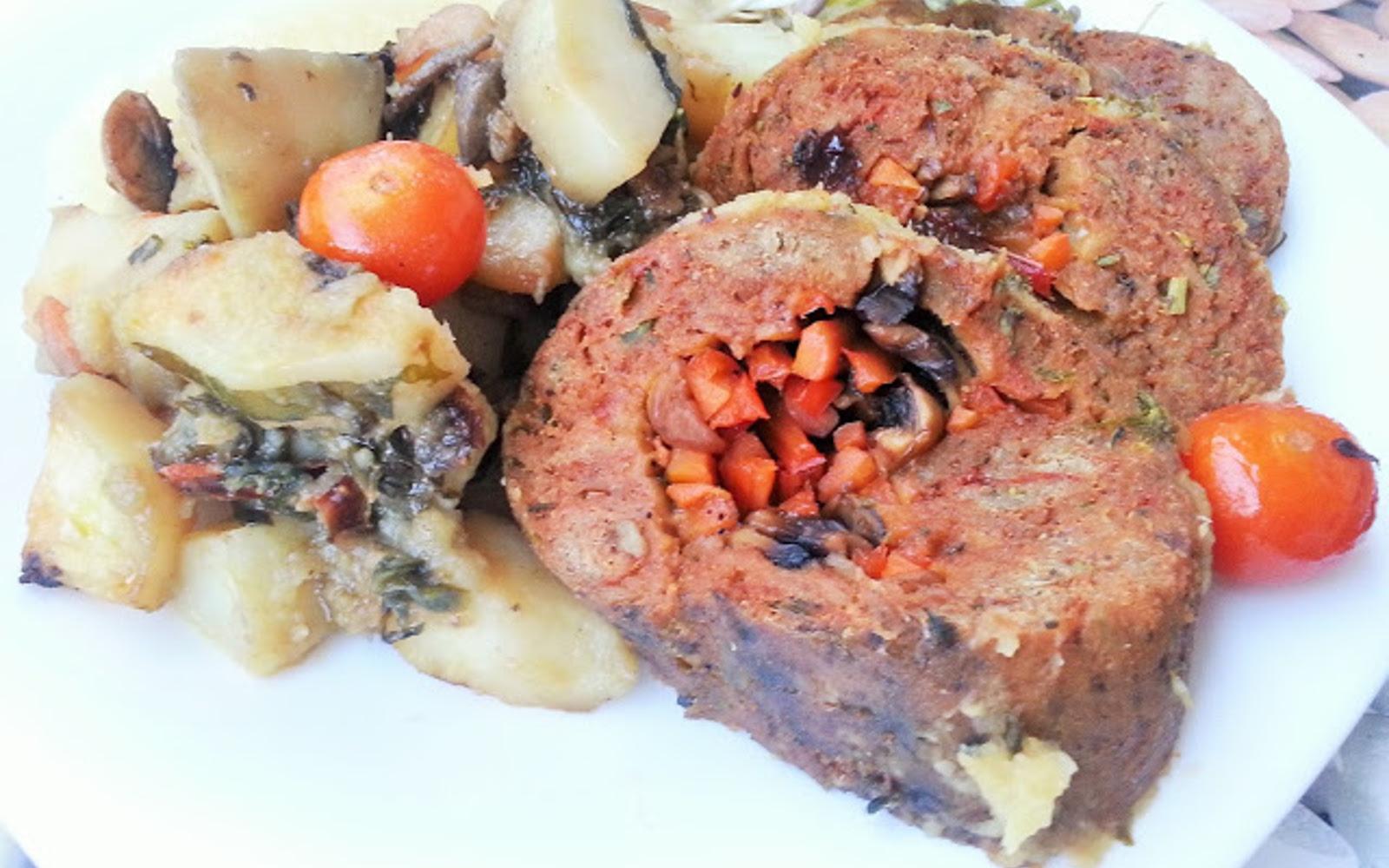 Vegetable Stuffed Seitan Roast b