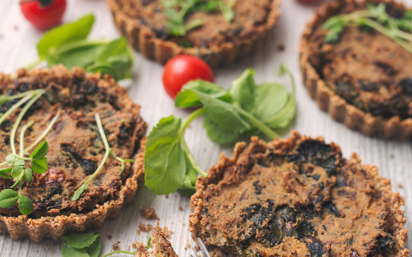 Mushroom & Kale Quiche