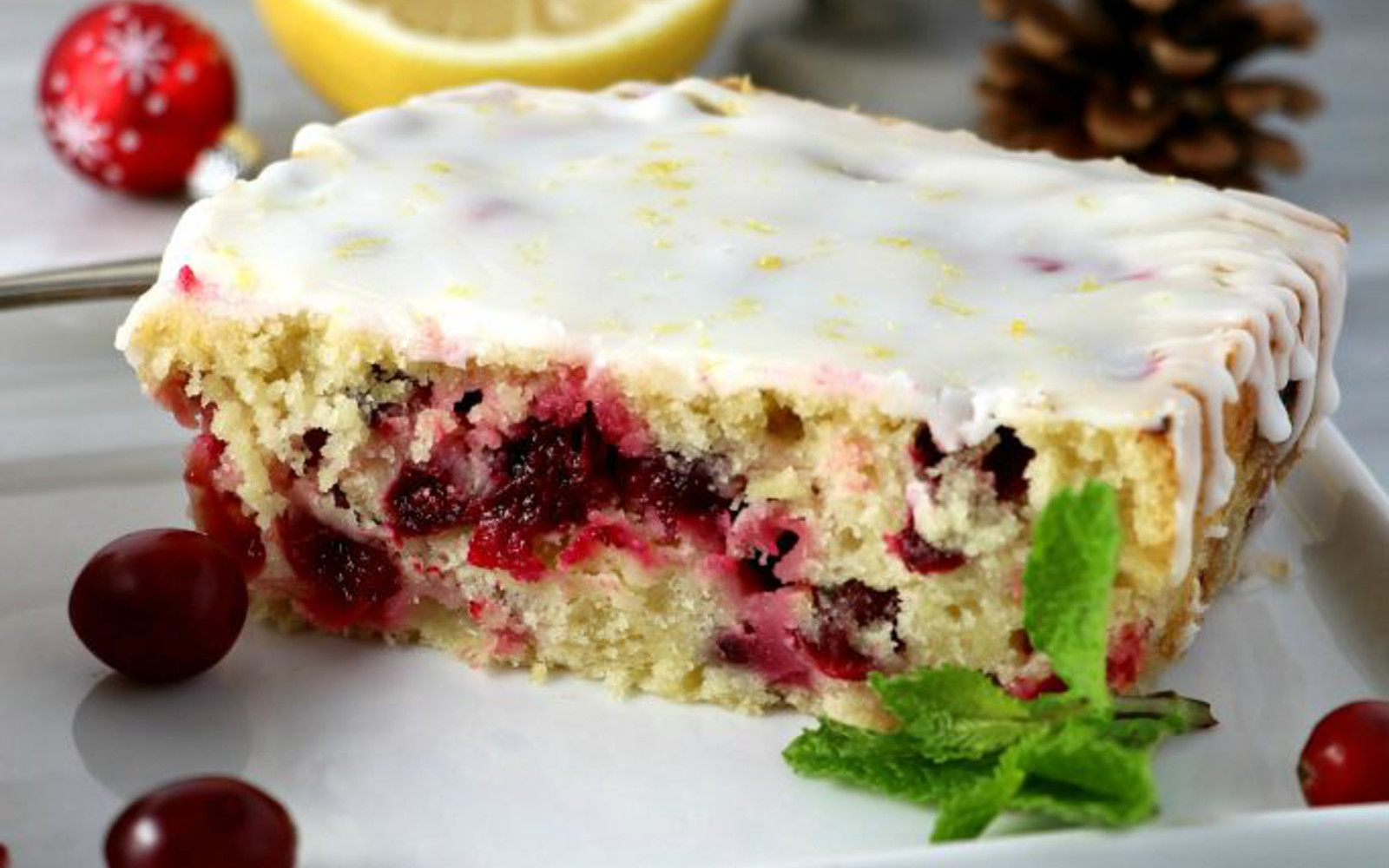 Cranberry Lemon Poundcake