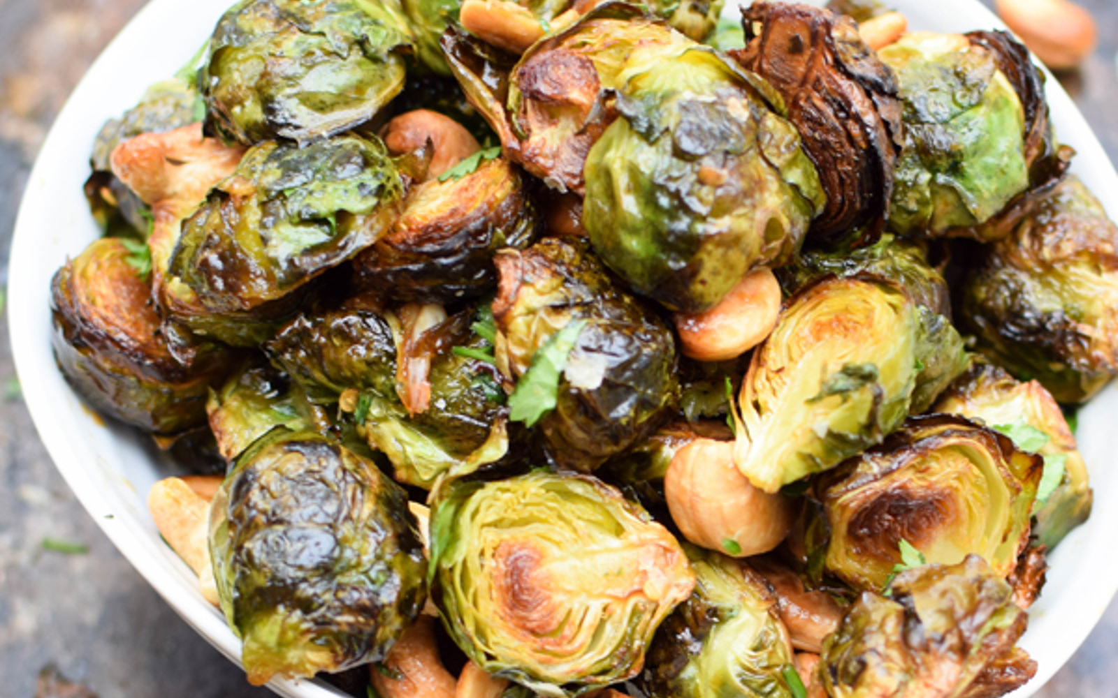 Asian Roasted Brussels Sprouts With Cashews