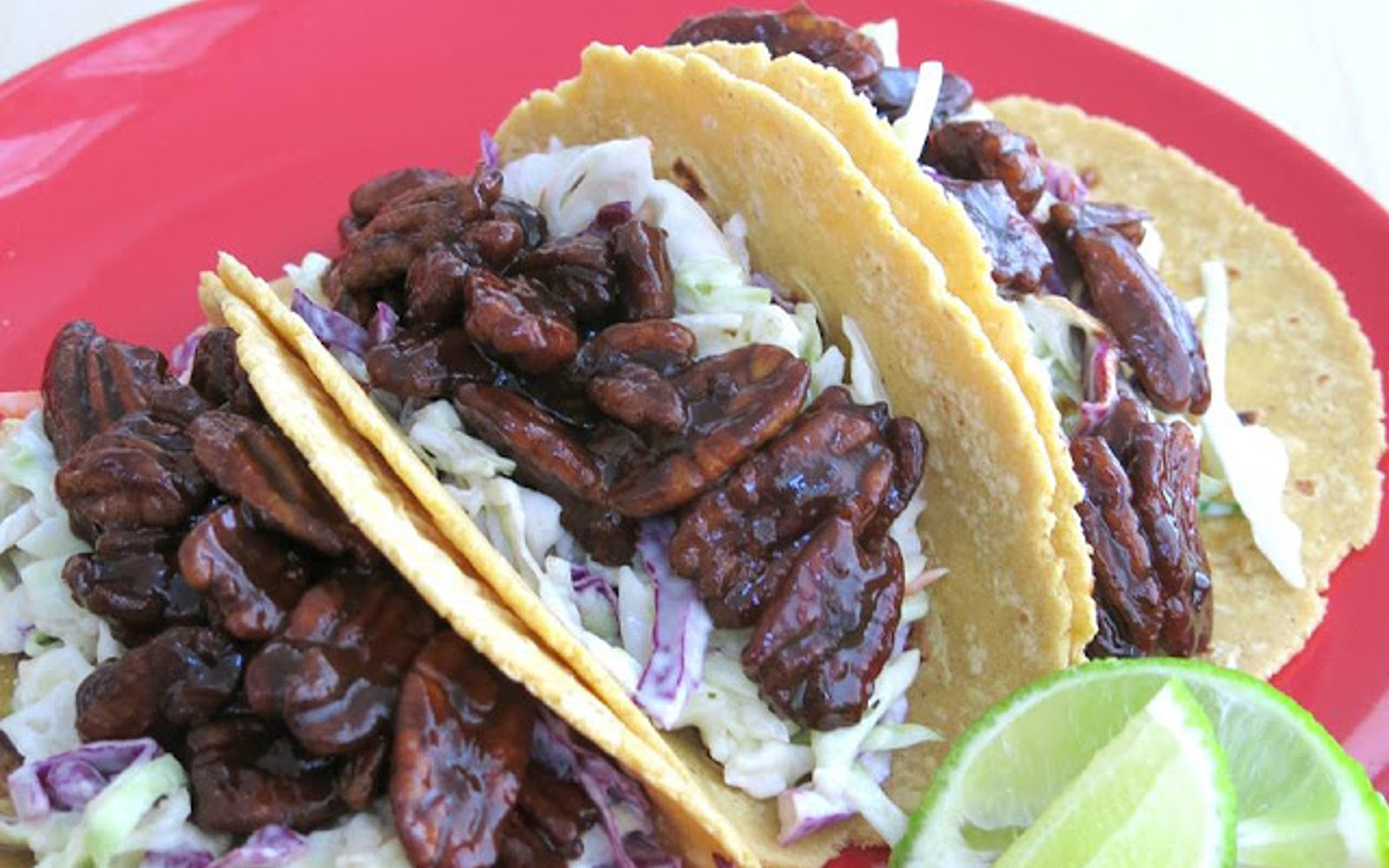 BBQ Pecan and Ranch Slaw Tacos