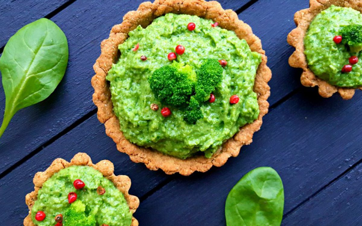 Broccoli and Spinach Tart