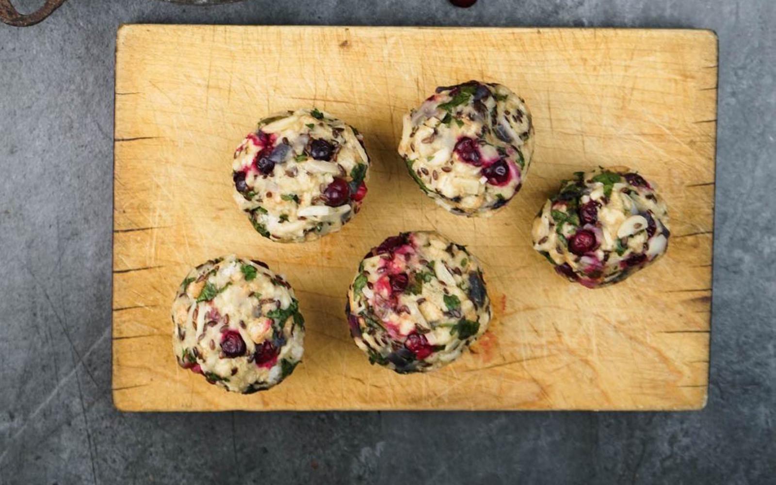 Cranberry Bread Dumplings With Mushroom Sauce b