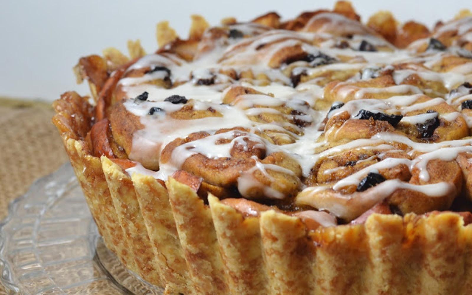 Sourdough Cinnamon Roll Deep Dish Apple Tart
