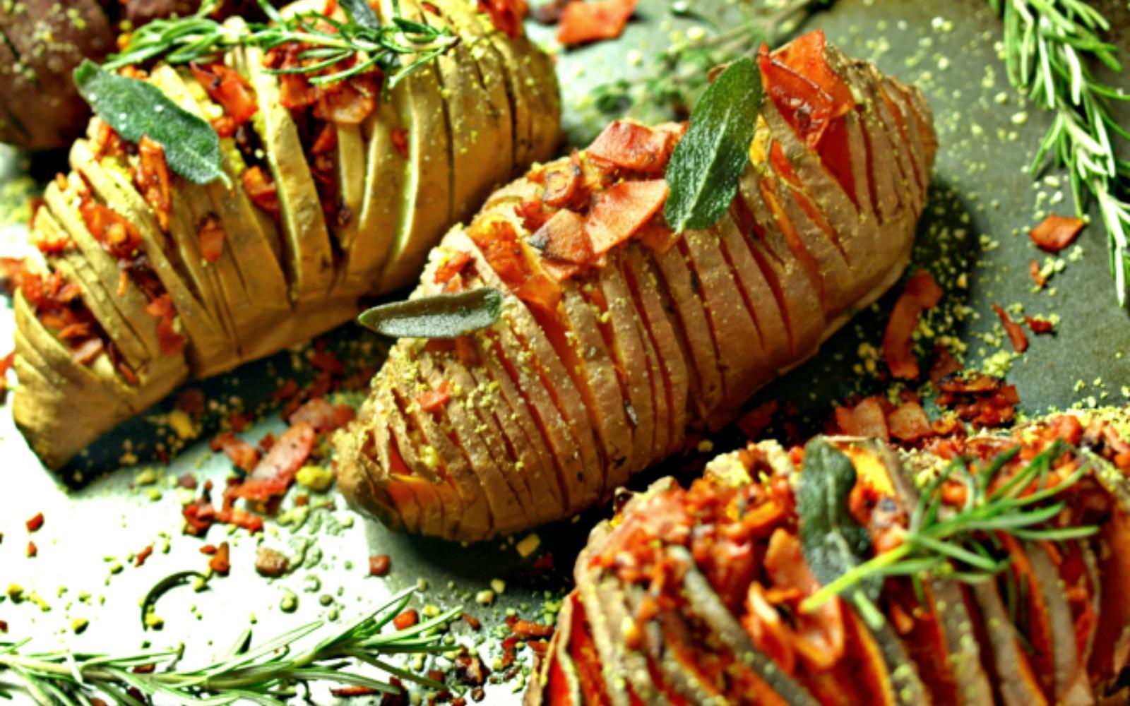Hasselback Potatoes [Vegan, Gluten Free]