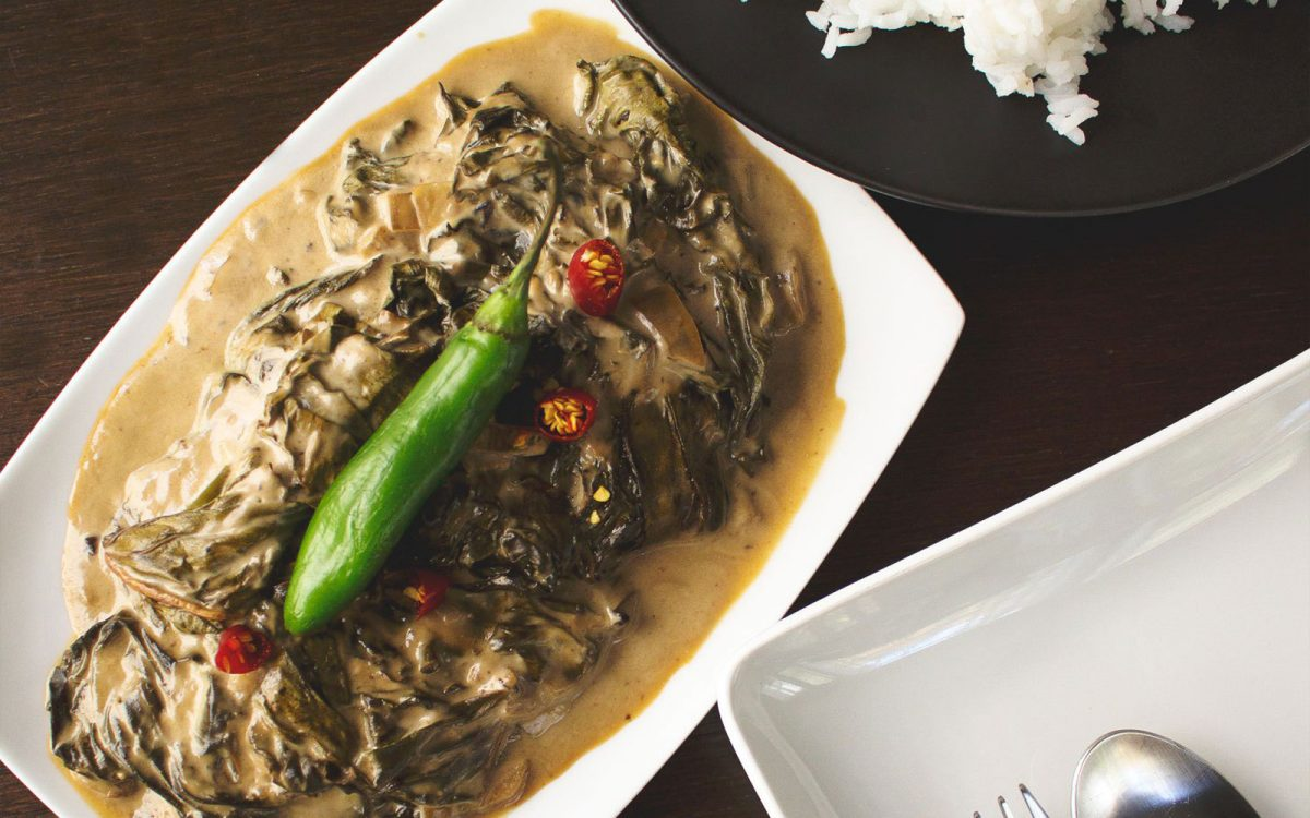 Laing Filipino Taro Leaves In Aromatic Coconut Milk Vegan Gluten Free One Green Planet